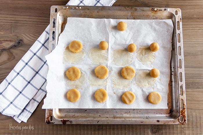 Galletas de almendra y mantequilla de cacahuete