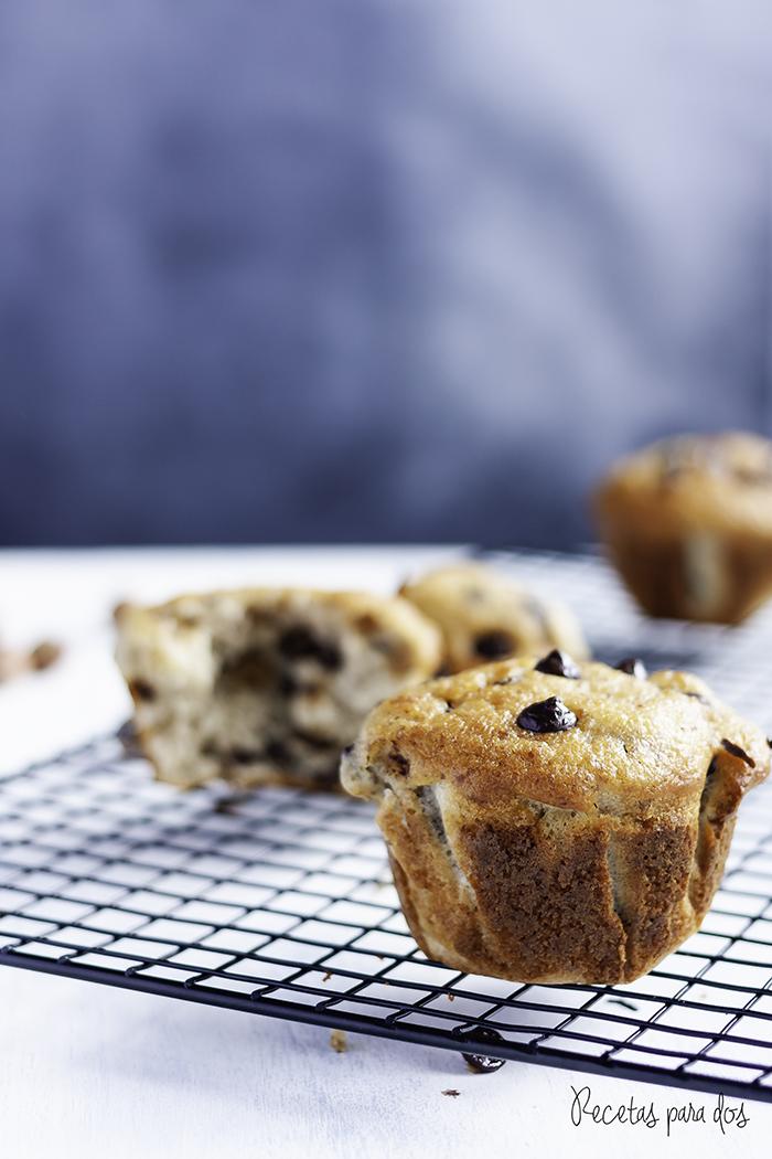 Muffins de avellana y chocolate