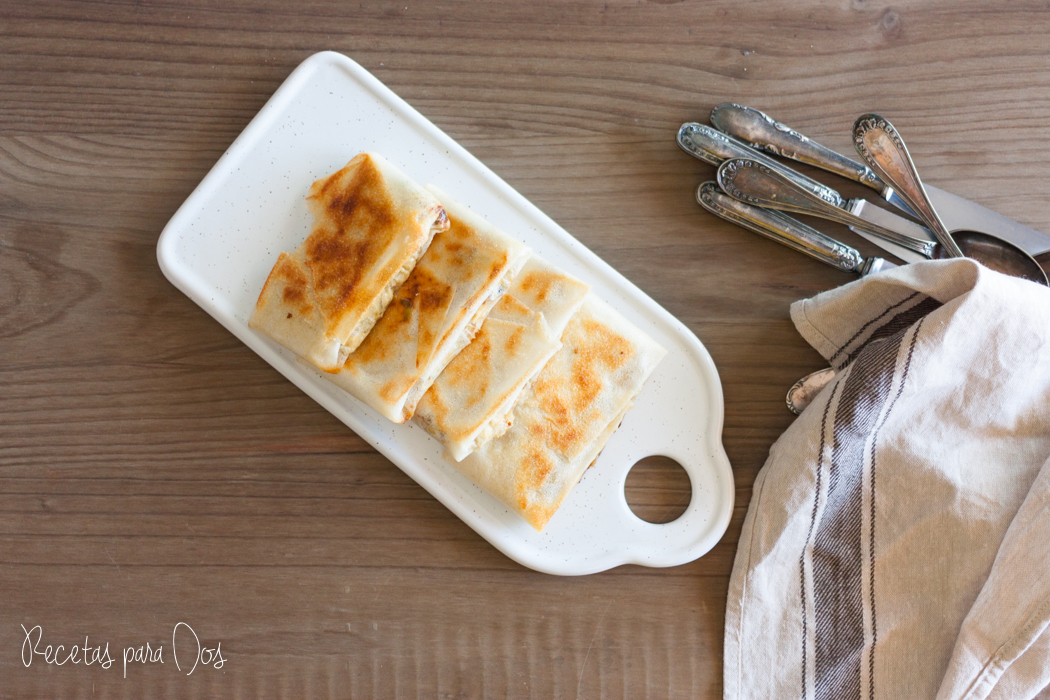 Pastelitos de puerro y champiñones